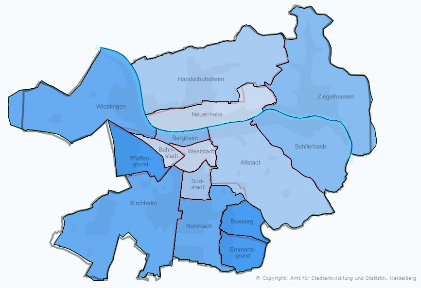 Stadtteile Heidelberg Landtagswahl AfD