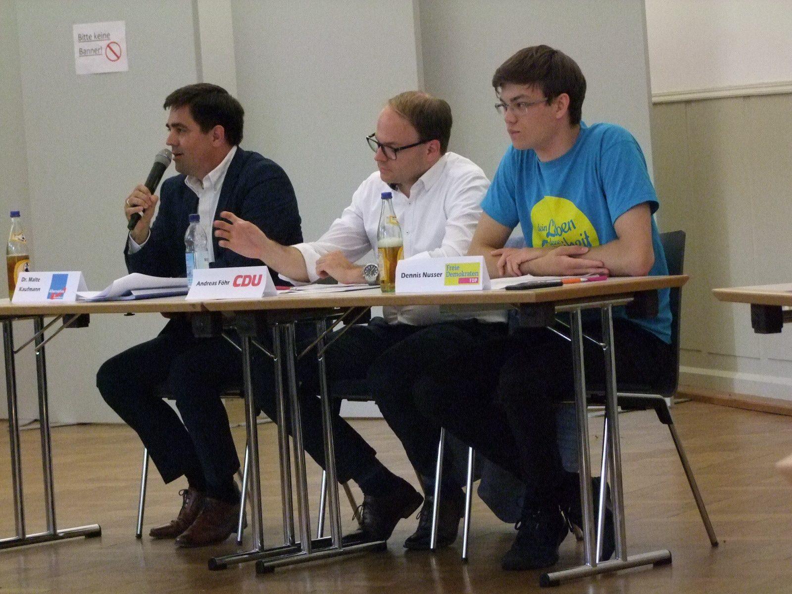 Podiumsdiskussion PH AfD CDU FDP
