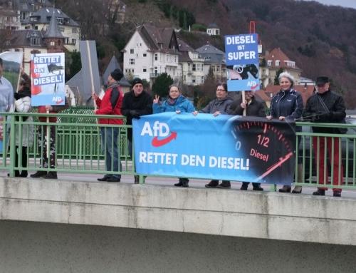 """AfD-Aktionstag """"Ja zum Diesel"""""""
