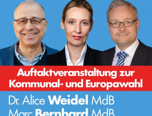 Weidel kommt nach Heidelberg – Auftaktveranstaltung Kommunalwahl und Europawahl