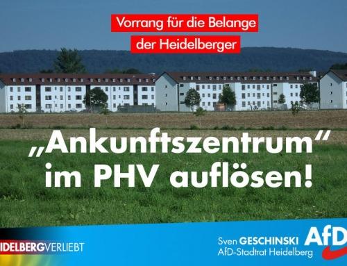 """Pressemitteilung: AfD erteilt Verbleib des """"Ankunftszentrums"""" in PHV klare Absage"""