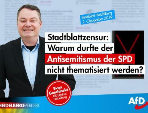 Stadtblattzensur: Warum durfte der Antisemitismus der SPD nicht thematisiert werden?
