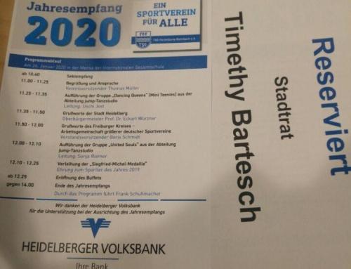 Jahresempfang der TSG Heidelberg-Rohrbach 2020