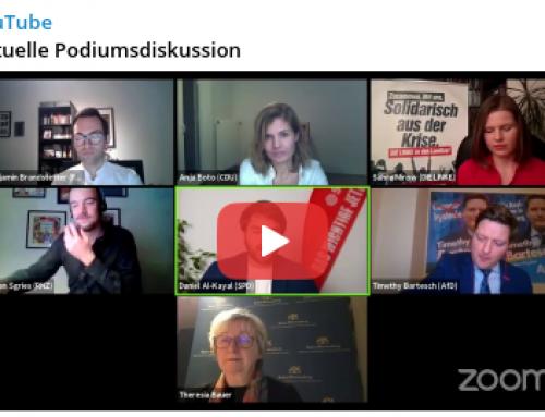 #Landtagswahl 2021 – Virtuelle Podiumsdiskussion, Sechs linksgrüne Politiker und ein AfDler