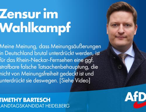 Zensur im Landtagswahlkampf